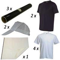 Kit Para Transferencia Térmica De Vinilo Sobre Camisetas Y Gorras