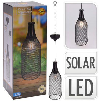 ProGarden Lámpara solar LED colgante de jardín metal 11 cm