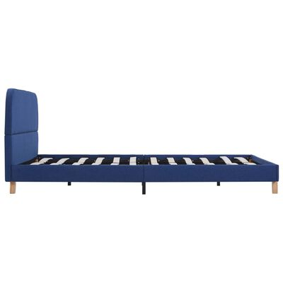 vidaXL Estructura de cama de tela azul 140x200 cm