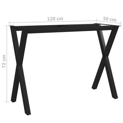 vidaXL Estructura de mesa de comedor en forma de X 120x50x72 cm