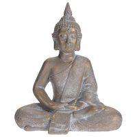 ProGarden Figura de Buda sentado gris dorado 41x23,5x49 cm