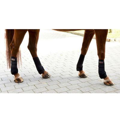 Kerbl Protectores de pata para caballo cuatro unidades negras 320133
