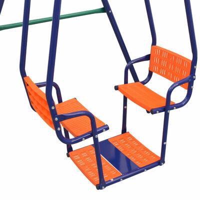 vidaXL Juego de columpios con 5 asientos naranja