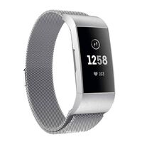 Fitbit Charge 3/4 pulsera lazo milanesa - plata - S
