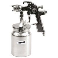 VOREL Pistola pulverizadora HVLP con vaso de líquido 1000 ml