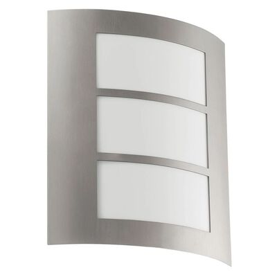 EGLO Lámpara de pared exterior City plateado 88139