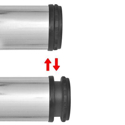 4 Patas de Mesa Regulables en Altura 870 mm (Color Cromo)