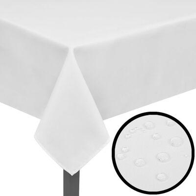 5 manteles blancos 250 x 130 cm