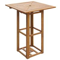 vidaXL Mesa para terraza bistró madera maciza de acacia 75x75x110 cm
