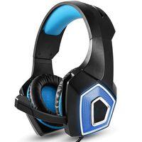 Cómodo auricular para juegos - negro / azul