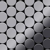 ALLOY Medallion-S-S-M Mosaico de metal sólido Acero inoxidable gris