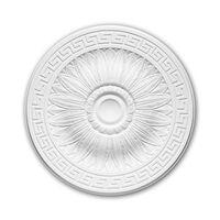 Profhome Decor 156019 Rosetón Blanco