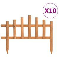 vidaXL Bordes de jardín 10 unidades madera de abeto 4,4 m