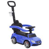 vidaXL Coche de empuje para niños Mercedes Benz C63 azul