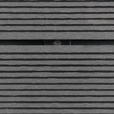 vidaXL Plato de ducha de jardín WPC acero inoxidable gris 110x62 cm