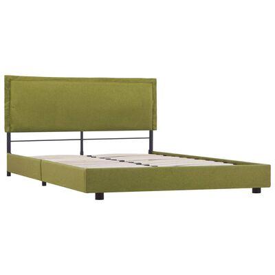vidaXL Estructura de cama de tela verde 120x200 cm