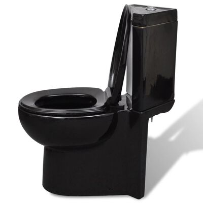 Inodoro de cerámica angular de color negro