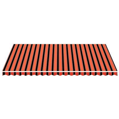vidaXL Tela de repuesto para toldo naranja y marrón 5x3,5 m
