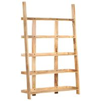 vidaXL Estantería 5 niveles madera maciza de mango 120x37x180 cm