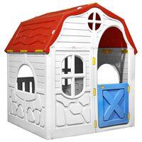 vidaXL Casita de juegos plegable para niños con puertas y ventanas