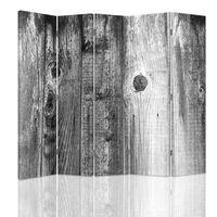 Biombo Black And White Wood - Separador de Ambientes