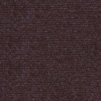 vidaXL Alfombra para eventos estriada marrón 1,6x20 m