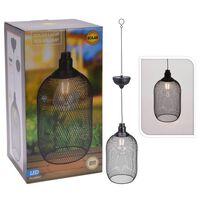 ProGarden Lámpara solar LED colgante de jardín metal 15 cm