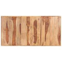 vidaXL Superficie de mesa madera maciza de sheesham 16 mm 160x80 cm