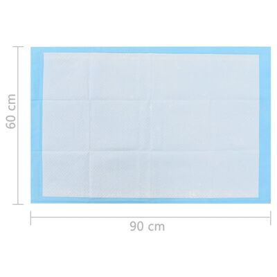 vidaXL Empapadores para mascota 100 unidades 90x60 cm textil no tejido