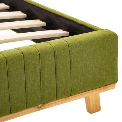 vidaXL Estructura de cama de tela verde 100x200 cm