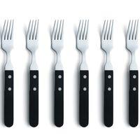 Amefa Juego de tenedores de carne 6 piezas plateado y negro