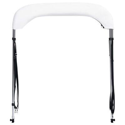 vidaXL Toldo Bimini de 2 arcos blanco 180x150x110 cm