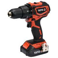 YATO Taladro atornillador sin escobillas batería Li-ion 2,0Ah 18V 42Nm