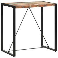 vidaXL Mesa alta de cocina de madera maciza reciclada 110x60x110 cm