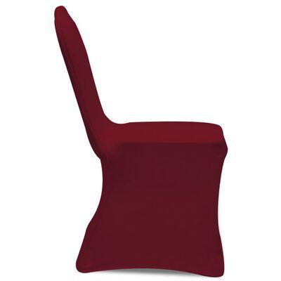 vidaXL Funda de silla elástica 24 unidades color burdeos