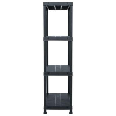 vidaXL Estantería de plástico 2 unidades 60x30x138 cm negro