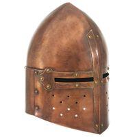 vidaXL Réplica de casco de caballero medieval antiguo LARP acero cobre
