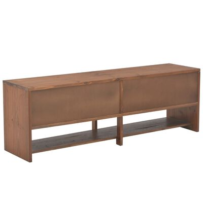 vidaXL Mueble para TV con 4 cajones madera abeto maciza 120x30x40 cm