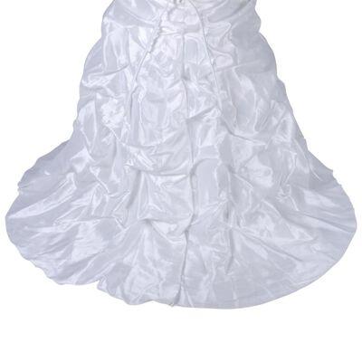 Vestido Blanco Elegante De Novia Traje De Bodas - Modelo D Talla 34