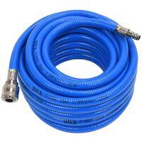YATO Manguera de aire con acoplamiento de PVC azul 10 mm x 10 m