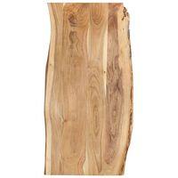 vidaXL Superficie de mesa madera maciza de acacia 120x(50-60)x2,5 cm