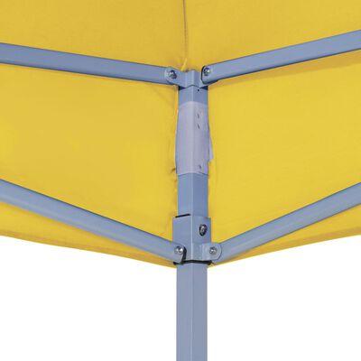vidaXL Techo de carpa para celebraciones amarillo 4x3 m 270 g/m²