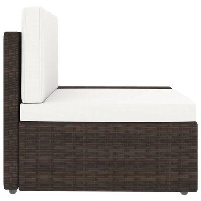 vidaXL Juego de muebles de jardín 3 piezas ratán sintético marrón