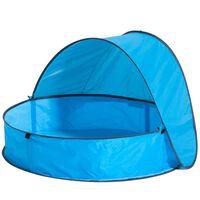 DERYAN Piscina emergente con toldo para niños azul