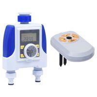 vidaXL Temporizador de riego dual con doble salida y sensor de humedad