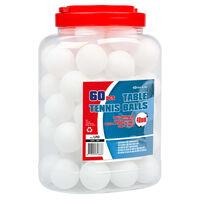Get & Go Pelotas de ping pong 60 unidades ABS blanco