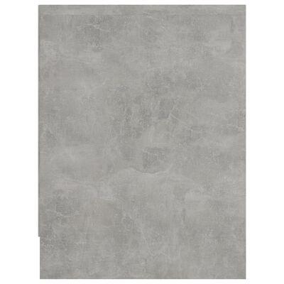 vidaXL Mesita de noche aglomerado gris hormigón 40x30x40 cm