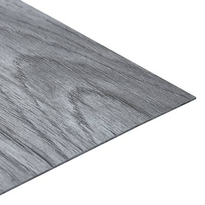 vidaXL Lamas para suelo autoadhesivas PVC gris claro 5,11 m²
