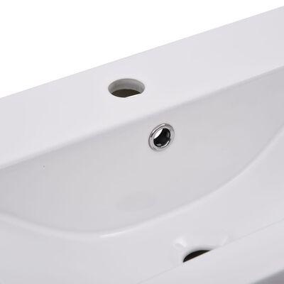 vidaXL Lavabo encastrado de cerámica blanco 81x39,5x18,5 cm