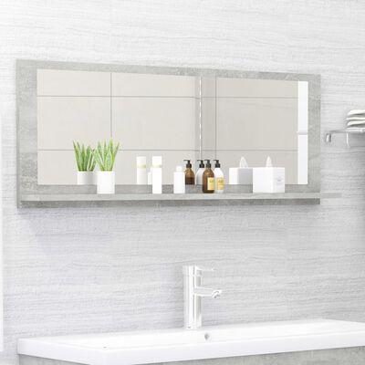 vidaXL Espejo de baño aglomerado gris hormigón 100x10,5x37 cm
